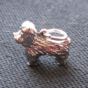 Jewelry - 3/$15 Sterling Silver Dog Charm - New Without Tags